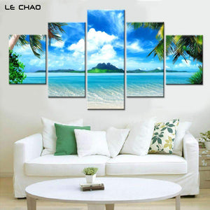 5 PCS Beach Blue Canvas