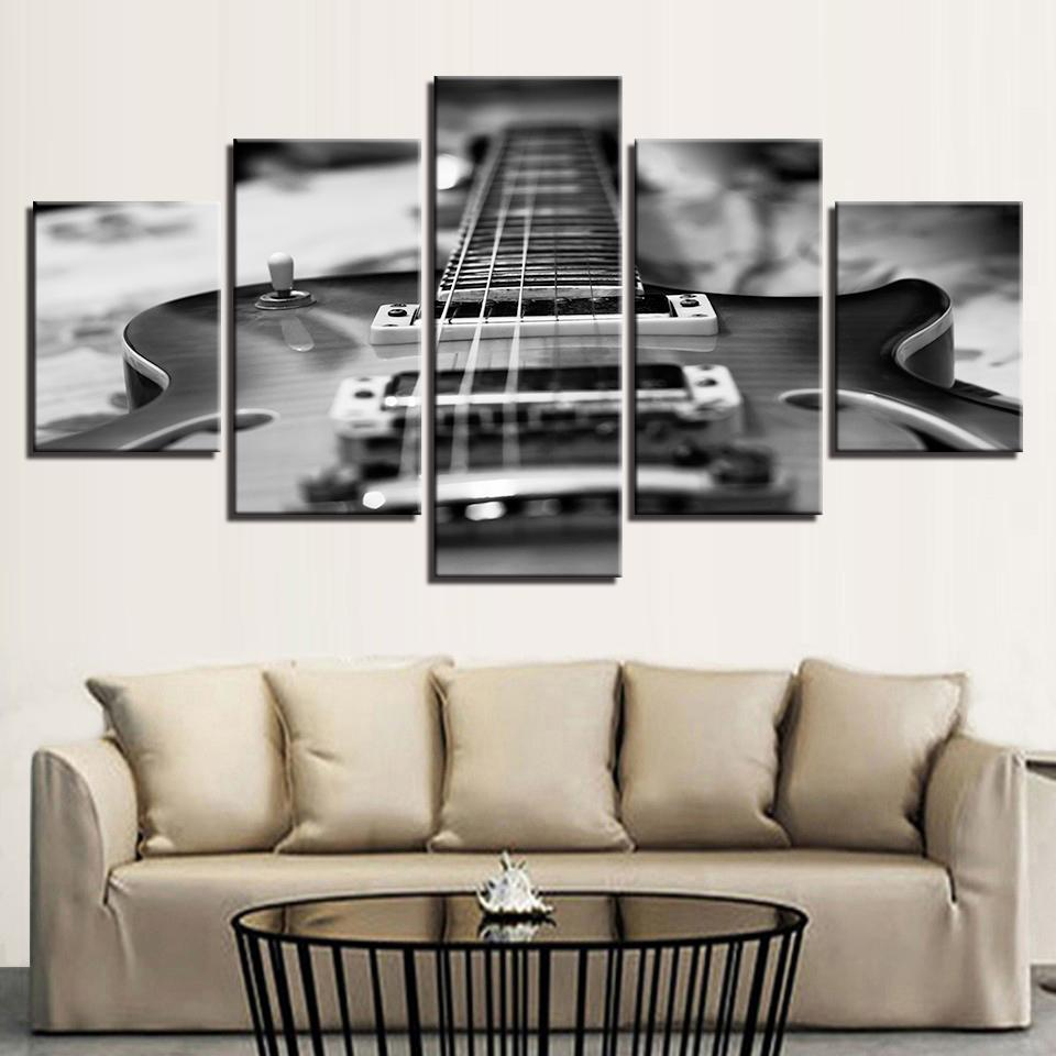 5 Pieces Guitar Paintings