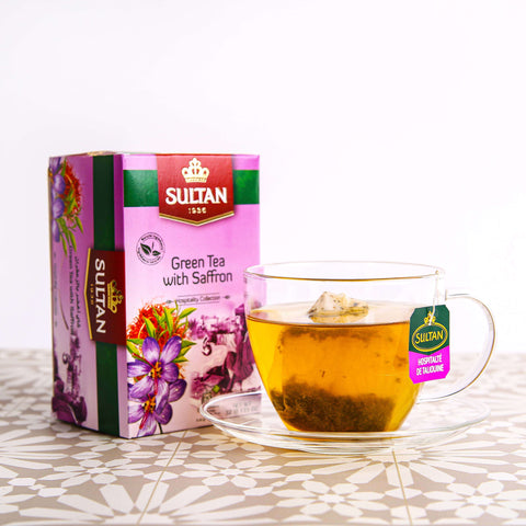 green tea saffron