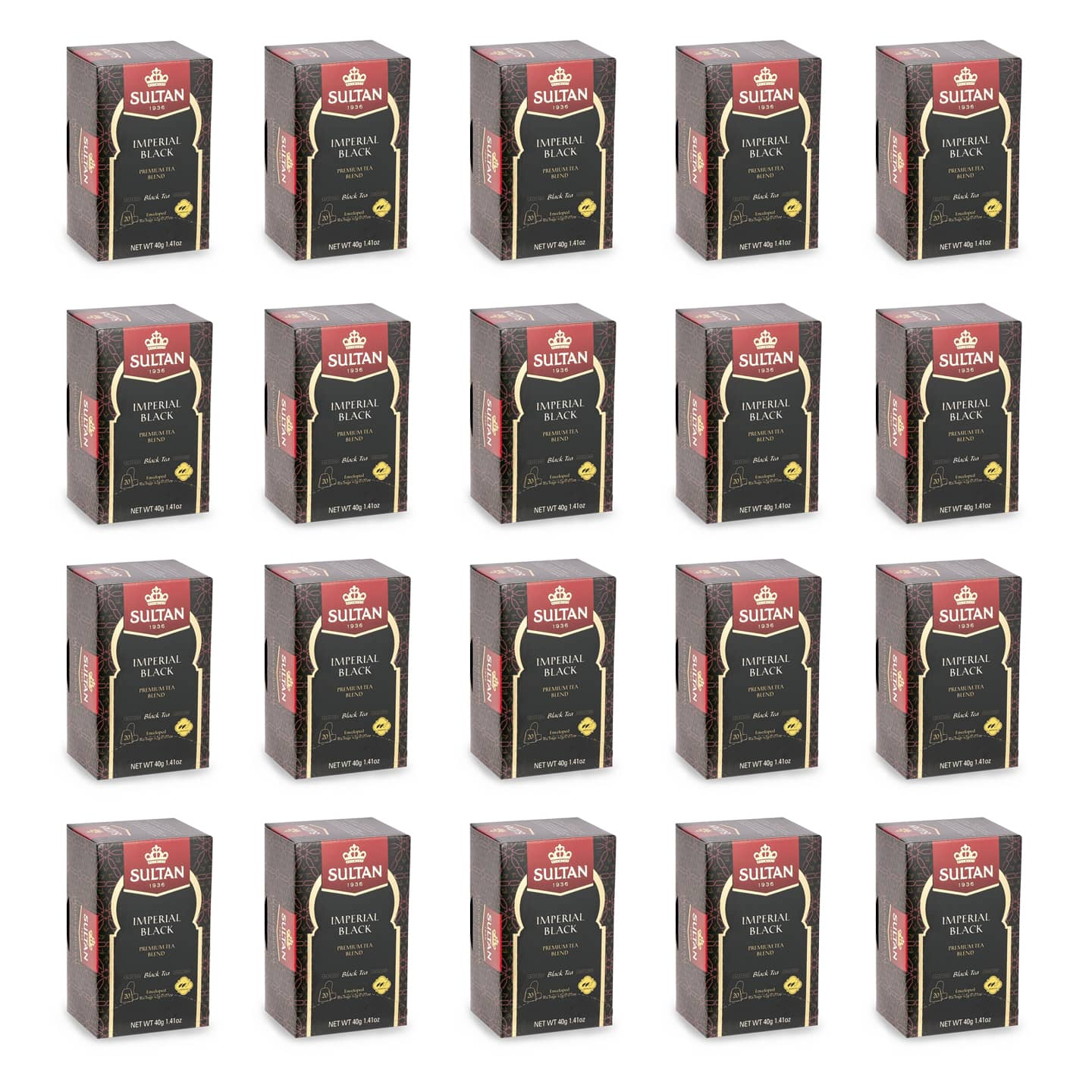 Premium Imperial Black Tea - 20 Tea Bags Bulk Buy