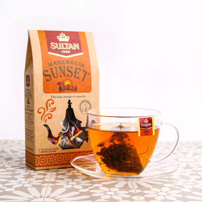 Marrakesh Sunset Orange and Cinnamon Black Tea - 15 Pyramid Tea Bags