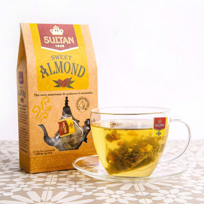 Sweet Almond Apple and Almond Green Tea - 15 Pyramid Tea Bags
