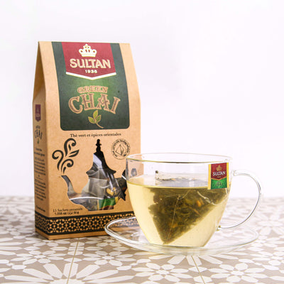 Green Chai - 15 Pyramid Tea Bags