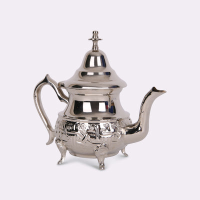 Small Traditional Engraved Moroccan Silver Teapot