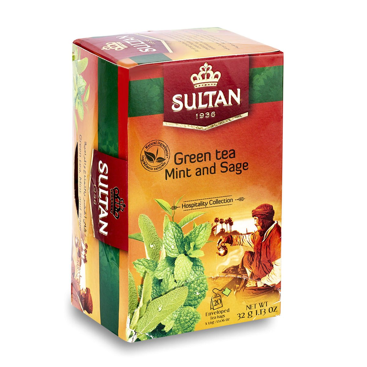 Mint and Sage Green Tea - 20 Tea bags - Bulk Buy