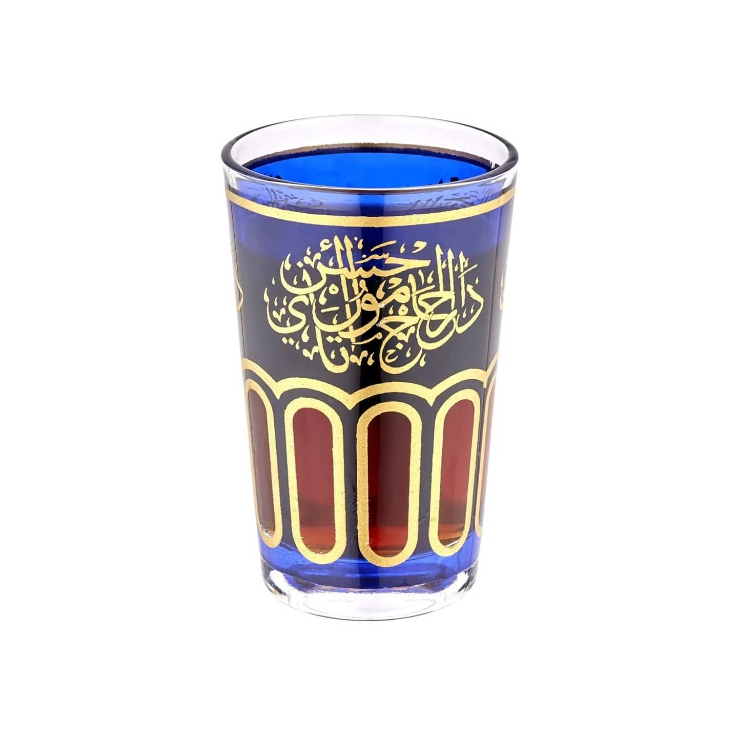 Sultan Tea Limited Edition Moroccan Tea Glasses in Blue Set of 6