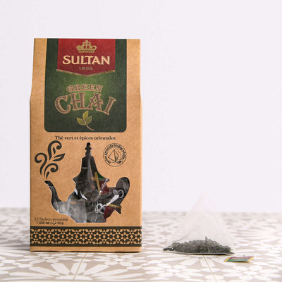 Green Chai Oriental Spices Green Tea - 15 Pyramid Tea Bags