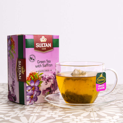 Green Tea with Saffron - 20 Tea Bags