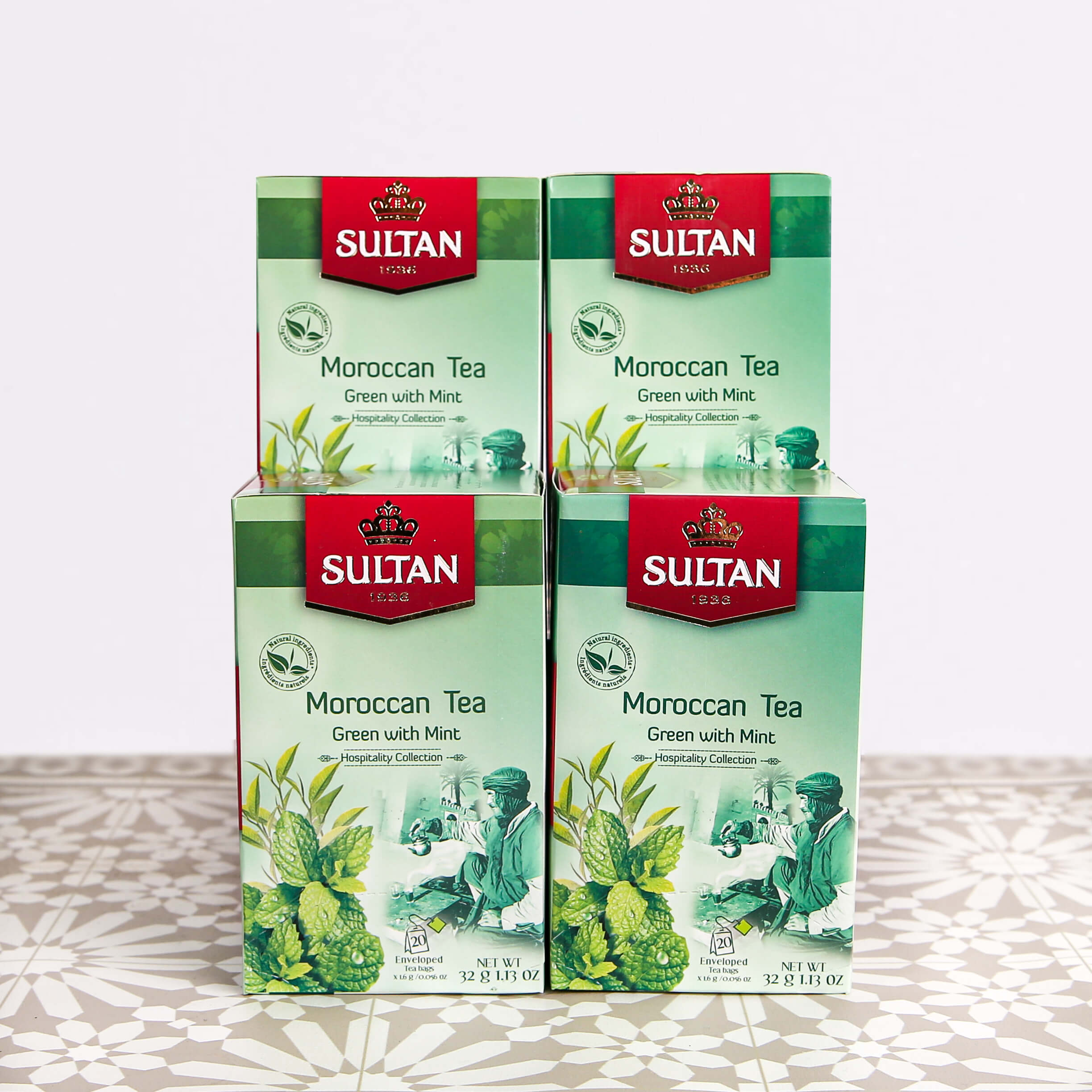 Authentic Moroccan Mint Green Tea - 20 Tea Bags