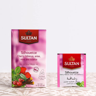 Silhouette Cherry, Hibiscus, Anise, Mint and Licorice Tea - 20 Tea Bags