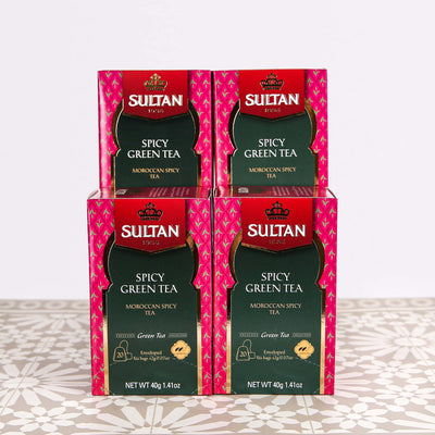 Spicy Green Tea With Cinnamon and Ginger - 20 Tea Bags Bulk Buy