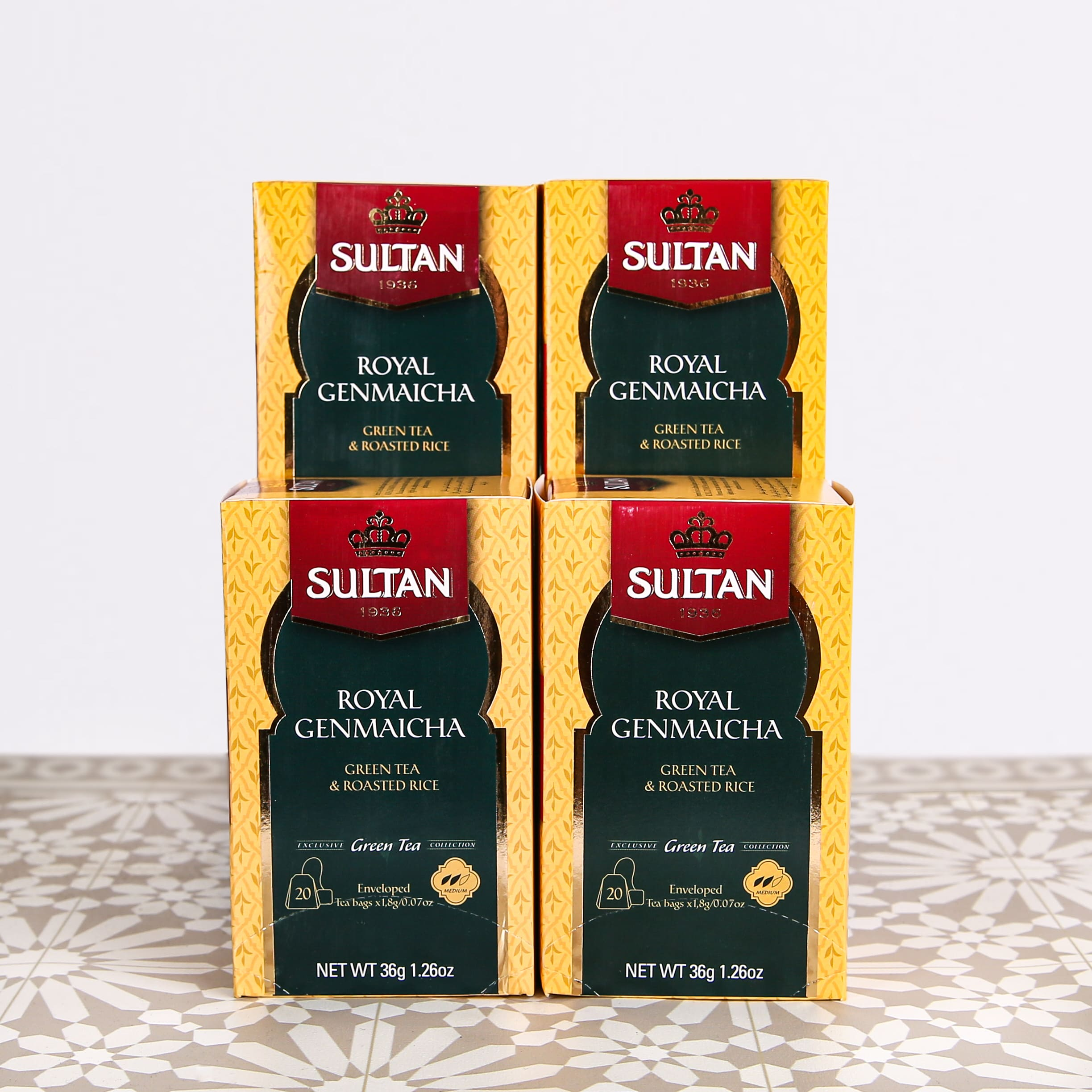 Royal Genmaicha Green Tea With Roasted Rice - 20 Tea Bags