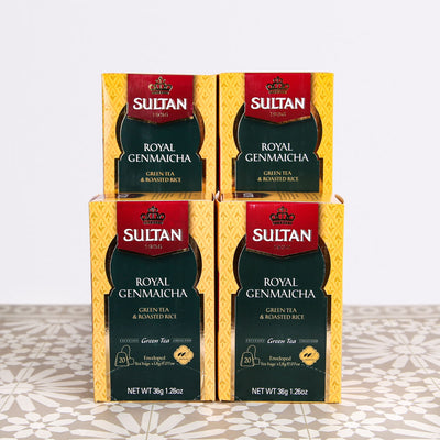 Royal Genmaicha Green Tea With Roasted Rice - 20 Tea Bags Bulk Buy