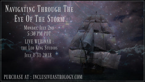 July 2018! Navigating Through The Eye Of The Storm July 2018 Monthly Forecast (Recording MP4)