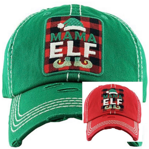 Mama Elf (2 colors green or red)