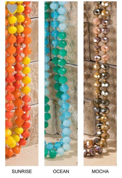 Shimmering Faceted Glass Bead Necklace (2 colors)