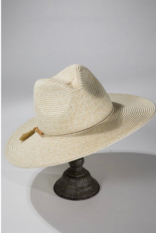 Duo-Tone Wood Bead Panama Hat (3 colors)