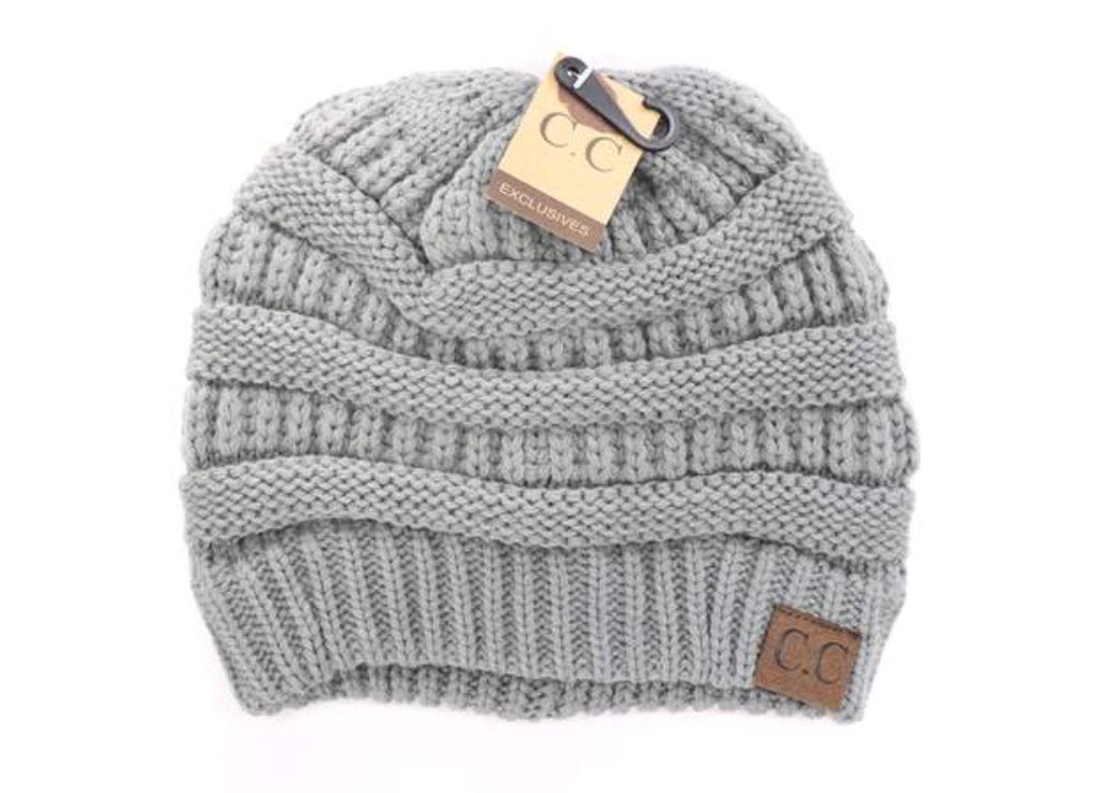 REGULAR CC LABEL BEANIE solid grey
