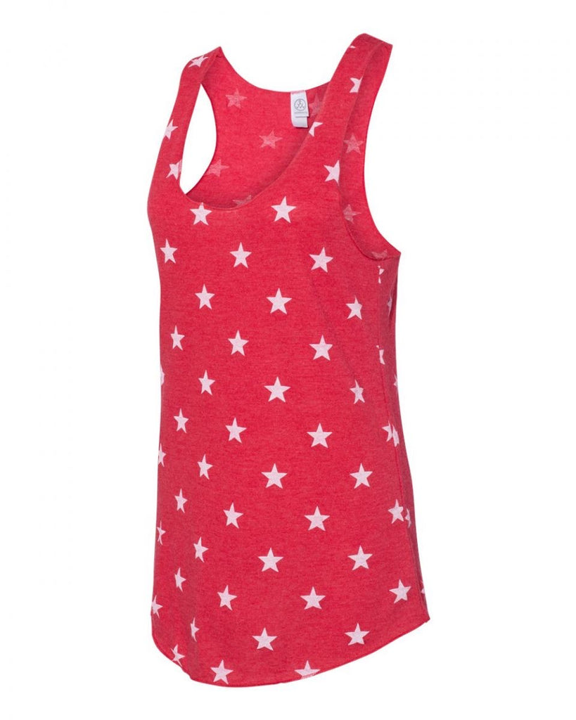 Red Star Racer Back Tank Top