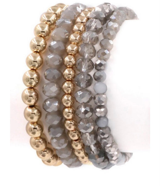 Assorted Beaded Stretch Bracelet (2 colors)