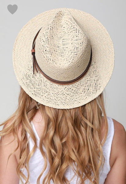 Natural Paper Panama Hat with Double Band