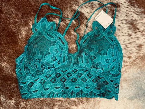 Harbor Blue Lace Bralette