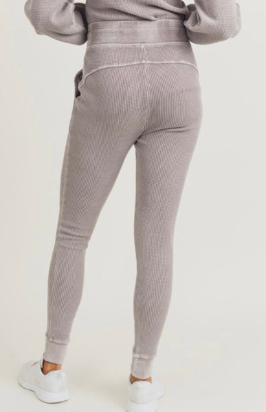 Grey Mineral Wash Thermal Bottoms