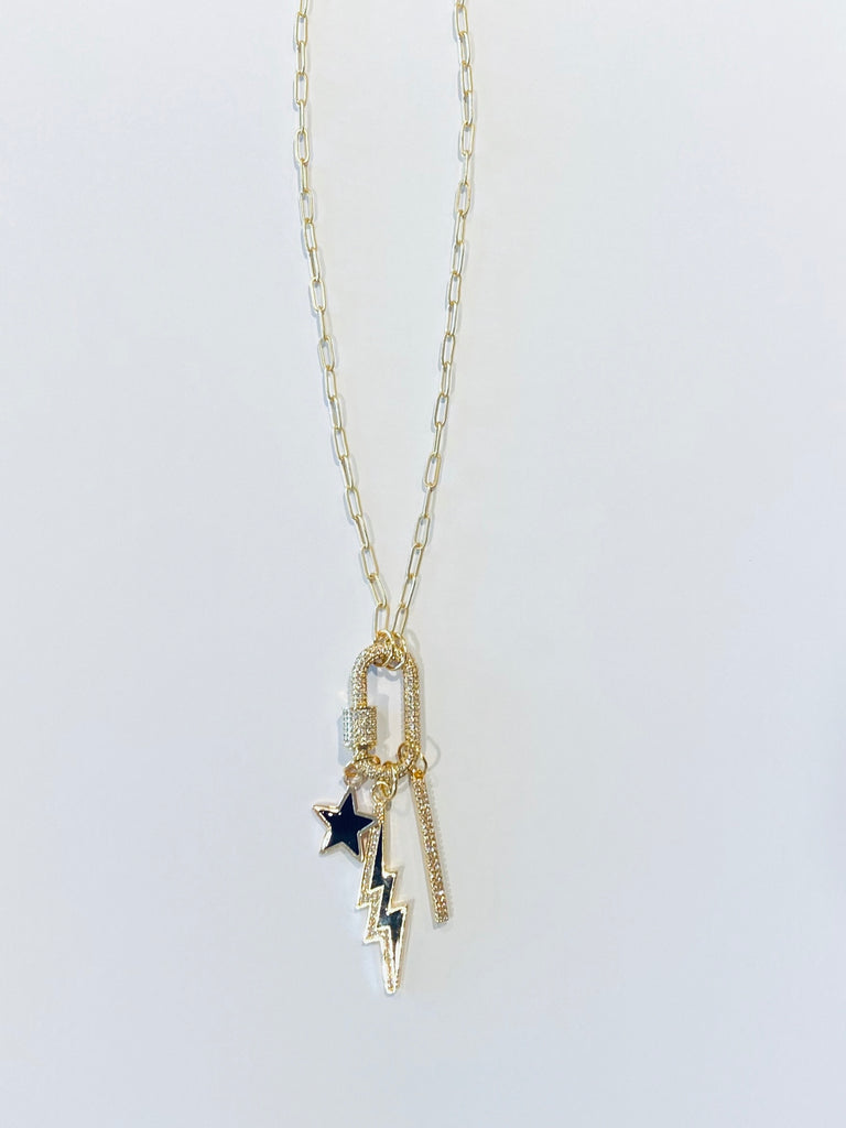 Babes Gold Link Charm Necklace