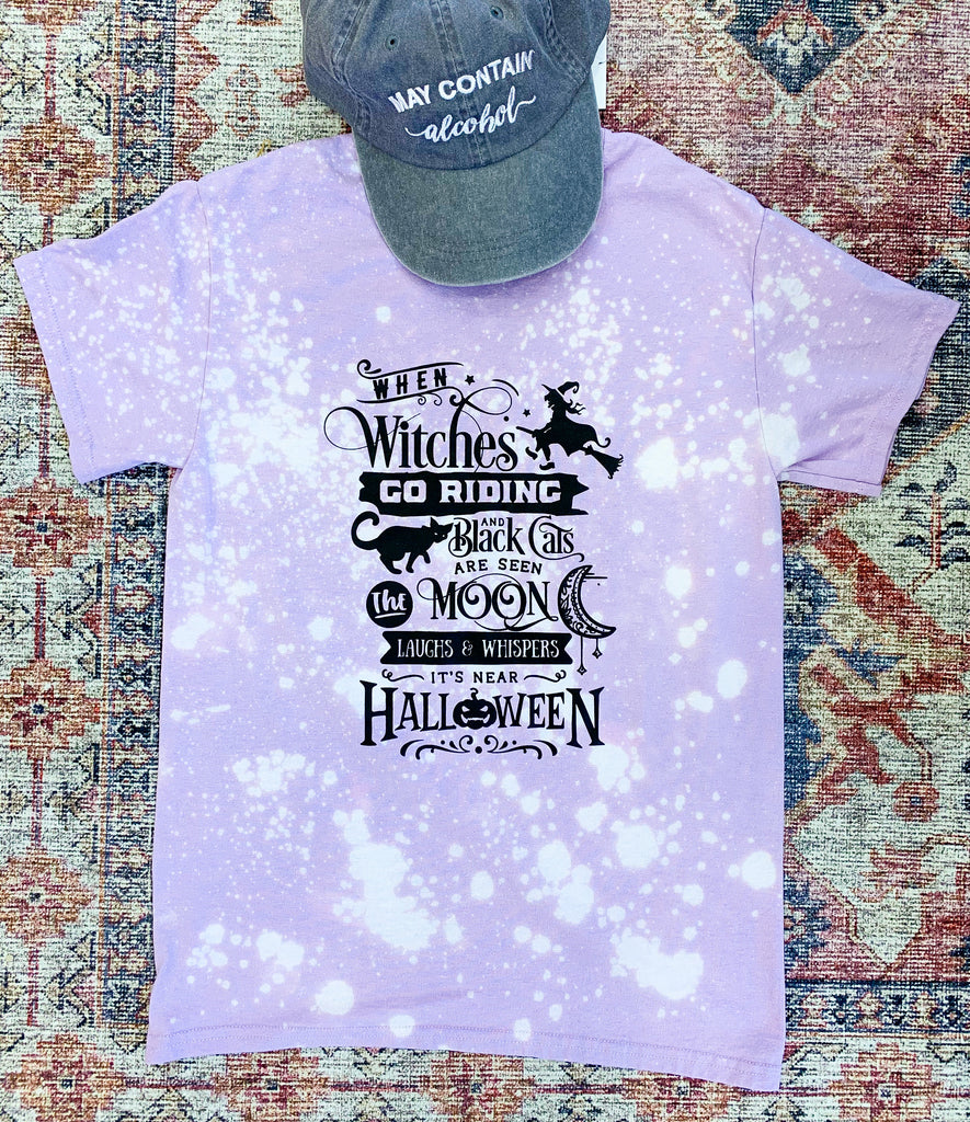 When Witches Go Riding Lilac Tee