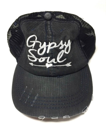 Gypsy Soul Black Trucker Hat