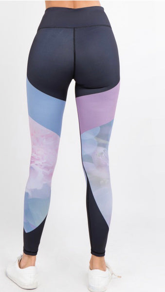 Dreamy Views Color Block Active Wear Leggings