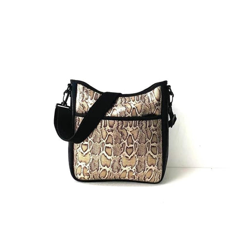 Golden Snake Cross Body Bag