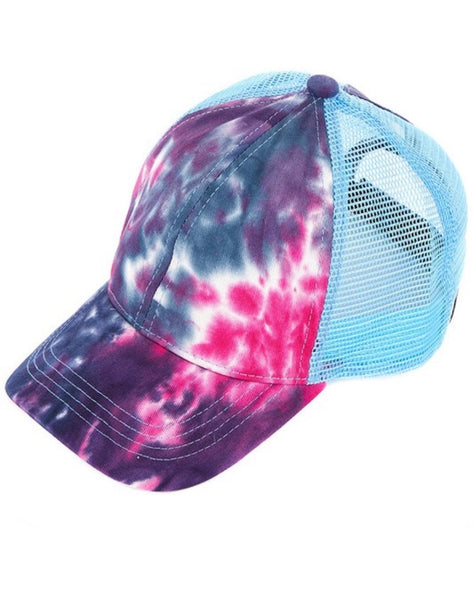 CC Tie-Dyed Pony Trucker Hat (color options)