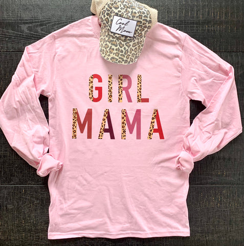 Girl Mama Pink Long Sleeve Tee