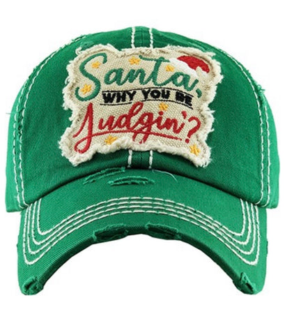 Santa Why You Be Judgin' Hat