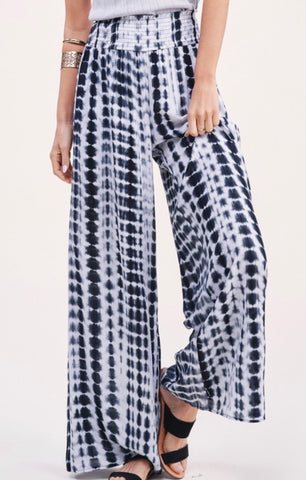 Ink Boho Tie Dye Wide Leg Pants