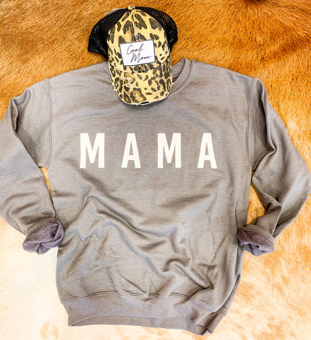 Deep Charcoal MAMA Sweatshirt