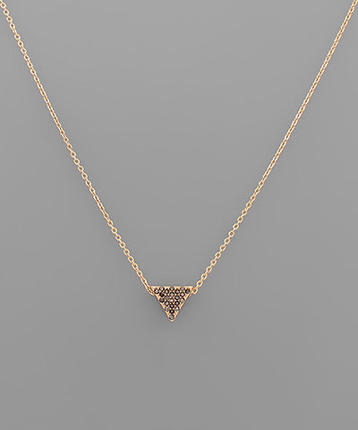 Crystal Triangle Necklace (3 color option)
