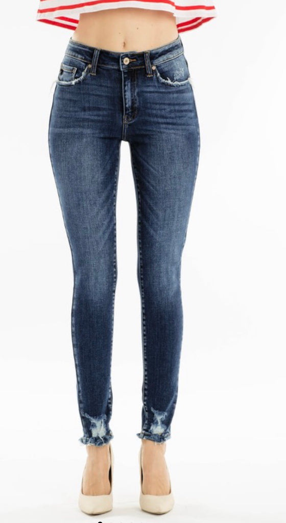 Ankle Distressed Kan Can Jeans