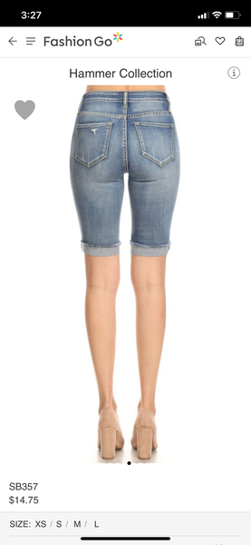 Hammer Medium Wash Bermuda Shorts