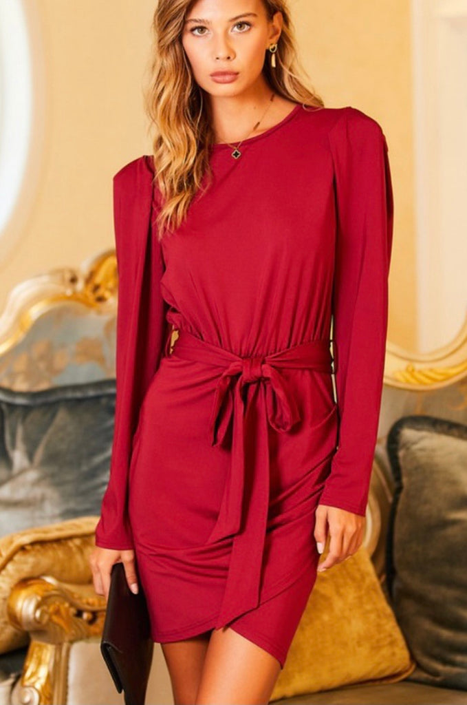 Burgundy Mini Dress