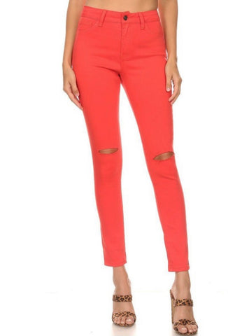 Red Denim Skinnys