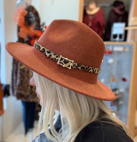 Leopard Belt Buckle Panama Hat (+ colors)