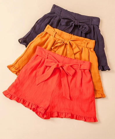 Blood Orange Ruffle Shorts