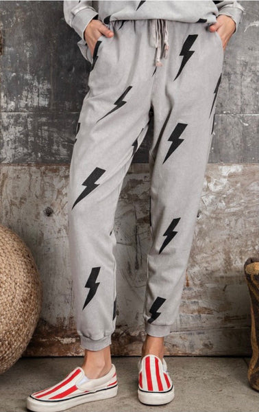 Lightning Bolt Print Jogger (bottom to set)