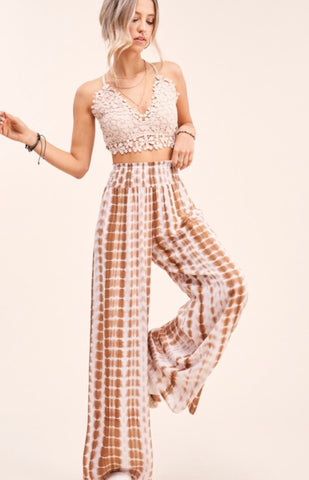 Earth Boho Tie Dye Wide Leg Pants