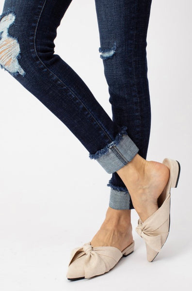 Dark wash Cuff Kan Can Jeans