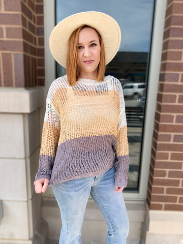 Butter Briony Color Block Sweater