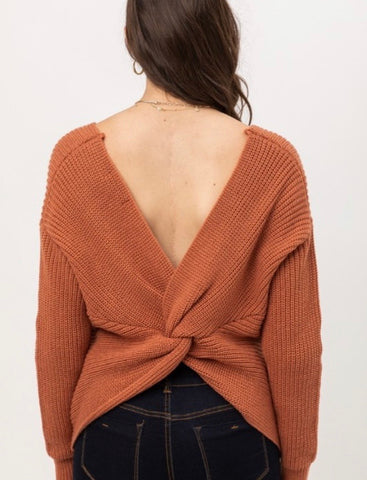 Clay Twist Back Sweater