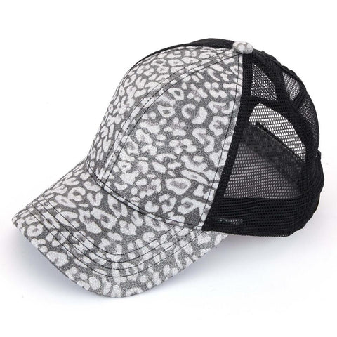 Leopard Glitter Baseball Hats (2 color options)